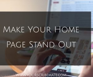 How to Make A Great Author Home Page